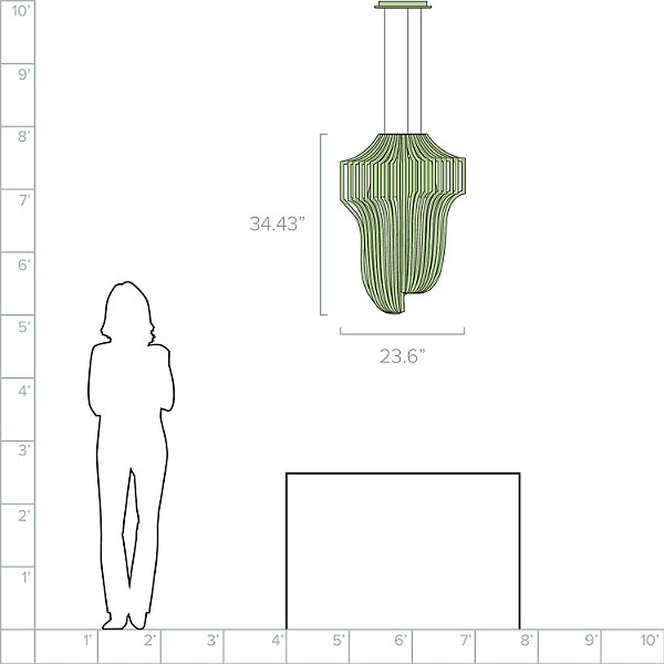 Aria Transparent LED Pendant