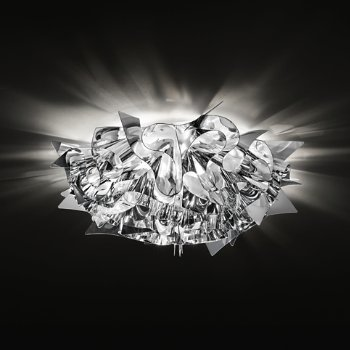 Shown lit in Silver, Small, Ceiling application