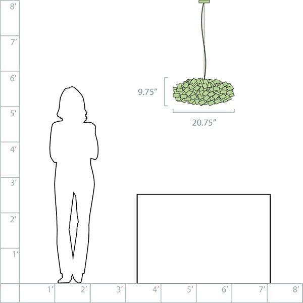 Clizia Pixel Linear Suspension