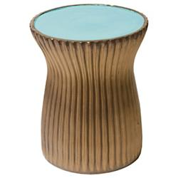 Ridged Ceramic Stool  Set of Two
