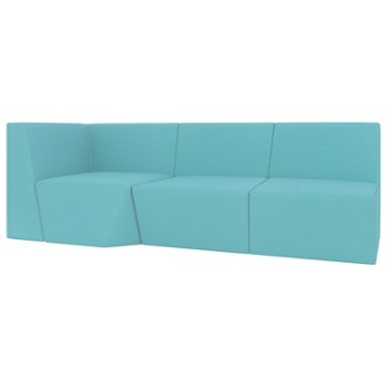 Francais 75 Armless Loveseat with Left or Right