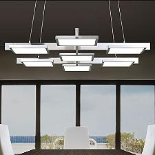 Panels 7-Light LED Linear Chandelier