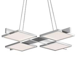Panels 4-Light Square LED Pendant