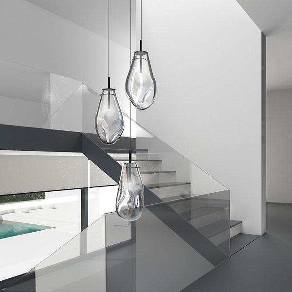Liquid 3-Light Round LED Multi-Light Pendant