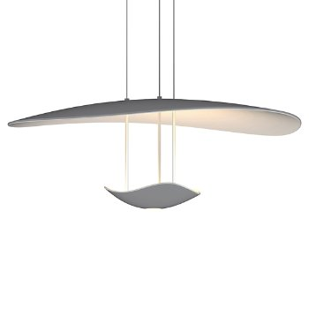Shown in Dove Grey finish, LED Uplight and Downlight