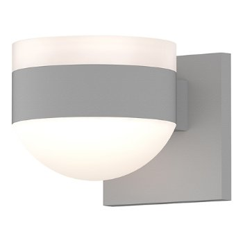 Shown in Frosted Polycarbonate Cylinder Top shade with Frosted Polycarbonate Dome Bottom shade, Textured White finish