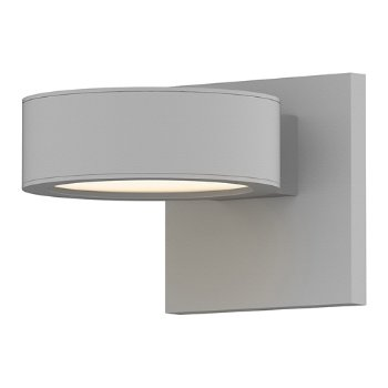 Shown in Optical Acrylic Plate Top shade with Optical Acrylic Plate Bottom shade, Textured White finish