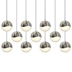 Grapes 11-Light Multipoint Pendant (Nickel/Large) - OPEN BOX