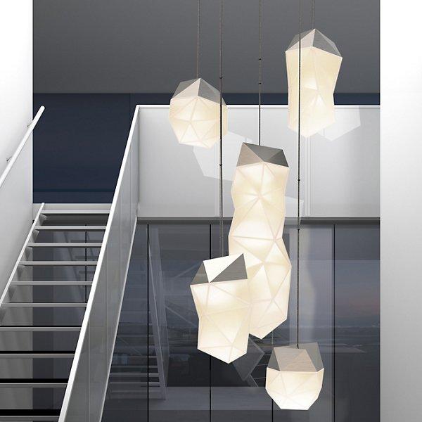 Facets Multi Light LED Pendant