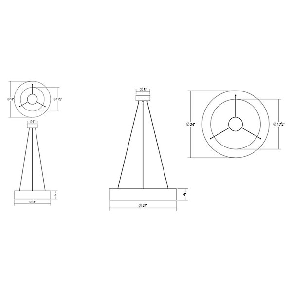 Tromme Short LED Pendant