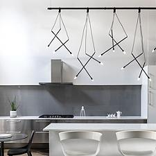 Suspenders 8' 1-Tier Linear Chandelier Light