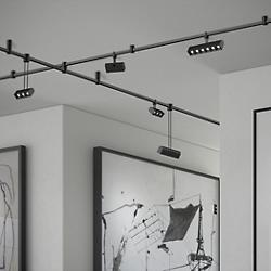 Suspenders 2-Bar Freeform Surface Mount Bar-Mounted and Suspended Cell Luminaires