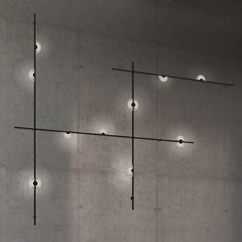 Suspenders 4-Bar Wall Mount Mezzaluna Luminaires
