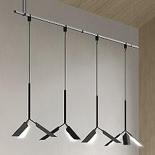Suspenders 48-Inch Linear 1-Tier Leaf Pendants