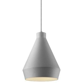 Shown in Bright Satin Aluminum w Silver Silk Covered Cord