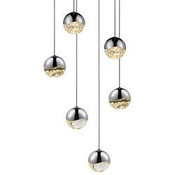 Grapes LED 6-Light Round Multipoint Pendant