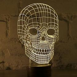 Skull LED Lamp (Birch) - OPEN BOX RETURN