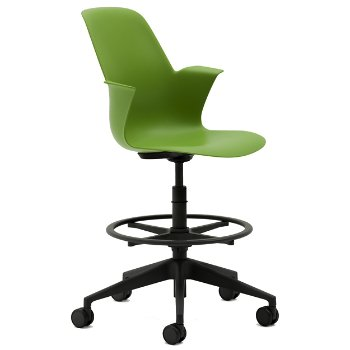 Node Five-Arm Base Office Stool