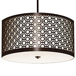 Brentwood Side Pattern Round Pendant
