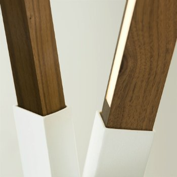 Shown in White finish with Water Tower Redwood (Reclaimed), Detail view