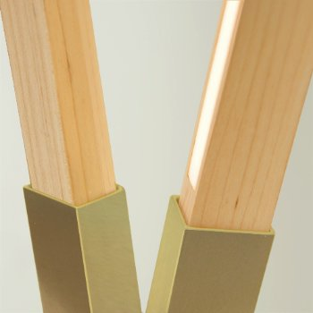 Shown in Brushed Brass finish with Maple, Detail view