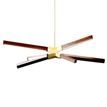 Shown in Polished Brass finish with Walnut, Little Sky Bang