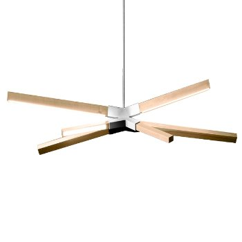 Shown in Polished Nickel finish with reclaimed Heart Pine, Little Sky Bang