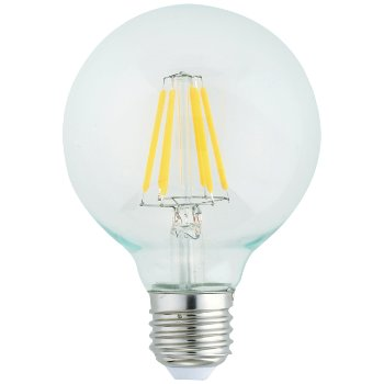 4W 120V E26 G25 LED Filament Clear Bulb