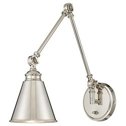 Morland Adjustable Wall Sconce (Polished Nickel) - OPEN BOX