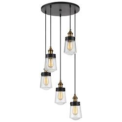 Macauley Multi-Light Pendant (Black/Warm Brass) - OPEN BOX