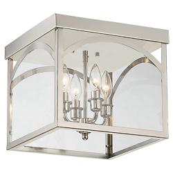 Garrett Flushmount (Polished Nickel) - OPEN BOX RETURN