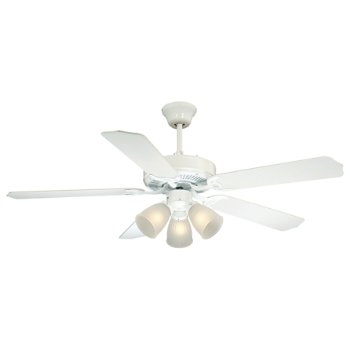 Shown in White with White blades and Satin White Frosted shade