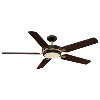Shown in English Bronze and Warm Brass finish with Chestnut blades