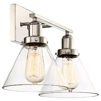 Shown in Polished Nickel finish, 2 Light