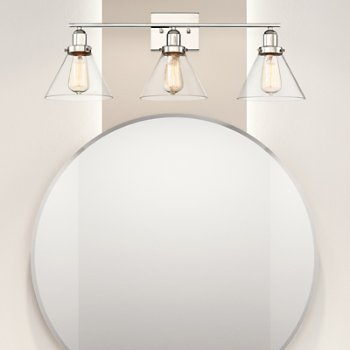 Shown in Polished Nickel finish, 3 Light, in use