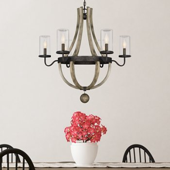 Eden Outdoor Chandelier, in use