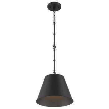Shown in Matte Black finish, Large size