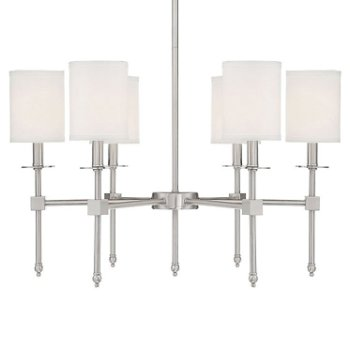 Shown in Satin Nickel finish, 6 Light