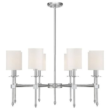 Shown in Polished Nickel finish, 8 Light