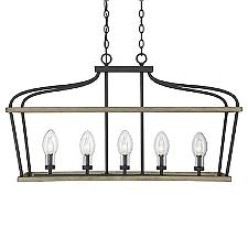 Danbury Outdoor Linear Chandelier Light