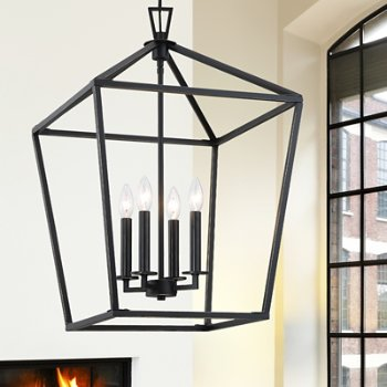 Shown in Classic Bronze finish, 4 Light, in use