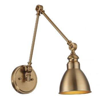 Shown in Warm Brass finish, lit