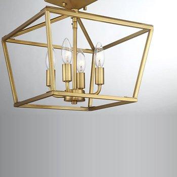 Shown in Warm Brass finish