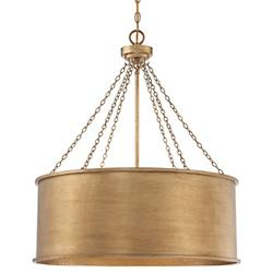 Rochester Drum Pendant (Silver/Large) - OPEN BOX RETURN