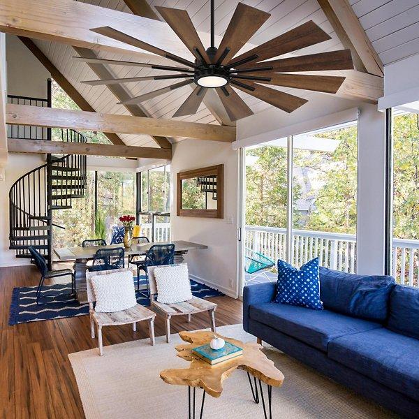 Farmhouse 60 in LED Ceiling Fan