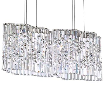 Shown in Stainless Steel finish, Clear Crystal color