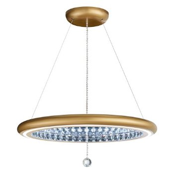 Shown in Glimmer Gold finish, Large size
