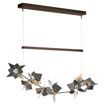 Shown in Bronze Finish, Natural Iron Floret Finish