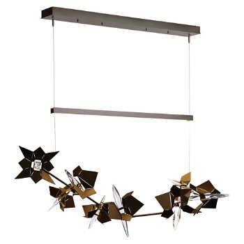 Shown in Burnished Steel Finish, Gold Floret Finish