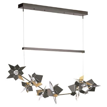 Shown in Burnished Steel Finish, Natural Iron Floret Finish